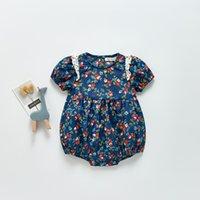 ZHBB Quality INS Baby Kids Girls Rompers Floral Newborn Jumpsuits Climb Cloths Bodysuits