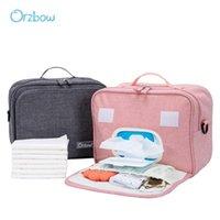 orzbow 아기 기저귀 가방 다기능 태어난 기저귀 젖은 건조한 야외 케어 휴대용 엄마 출산 보관 배낭 가방