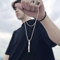 Pendant Necklaces 2021 Punk Fashion Black Necklace Men Hip Hop Sweater Stainless Steel Chain Women Long Goth Mens Jewellery Gifts