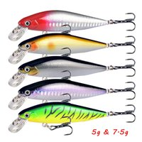 5 Color Mixed 5g 7.5g Minnow Hard Baits & Lures Fishing Hooks 8 6# Treble Hook Pesca Tackle Accessories WA_653