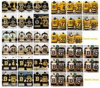 2021 Boston Bruins Hielo Hockey sobre hielo Jerseys Mens Patrice Bergeron Jersey Brad Marchand David Pastrnak Krejci Charlie McAvoy Kevan Miller Zdeno Chara Steinsted