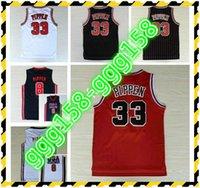 Nwt 33 Scottie Pippen Jersey Werfen Uniformen 1992 USA Dream Team Scottie Pippen Retro Hemd Home Rote Straße Away White Navy Blue