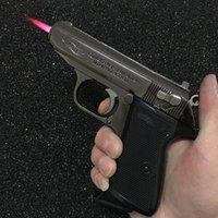 Büyük Metal Çakmak Tabanca Browning Askeri Model Silah Prop Torch Rüzgar Geçirmez Tabanca Tipi Için Puro Man Gife Aktör Sahne Oyuncaklar