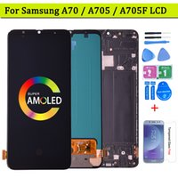Super AMOLED For Samsung Galaxy A70 LCD Display With Touch Screen Digitizer Assembly with frame A705 DS A705F A705FN A705GM
