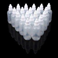 Speicherflaschen Gläser 50 stücke 5 ml / 10ml / 15ml / 20ml / 30ml / 50ml leerer Kunststoff quetschbare Tropfenauge flüssigkeit Nachfüllbare Flasche 18May9