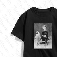 Mulheres Camiseta Estranho Menino Fumar Tshirt Gótico Aesthetic Punk Harajuku Kawaii Algodão Vintage Plus Size Short Manga Streetwear Roupas