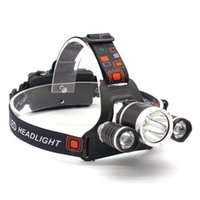 Headlamps Drop Headlamp Rechargeable 3 T6 R5 LED Hard Hat Headlight Battery Car Wall Charger For Camping
