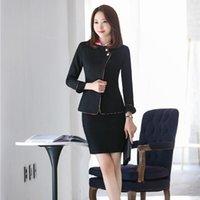 Women's Suits & Blazers 2021 Formal Black Blazer Women Business With Skirt And Jacket Sets Office Ladies Work Wear Uniform Styles