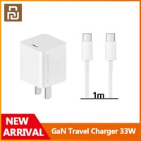 Xiaomi Youpin GaN Travel Charger 33W 11V=3A Max For Redmi K30 Ultra 1 2 Size Cable USB Type-C Output PD Quick Charge 5V 9V=3A