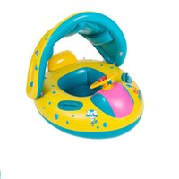 Life Vest & Buoy Baby Swimming Ring With Sun Canopy Toddler Inflatable Pool Float Bath Toy Swim Beach Mattress Accessories Kids Circle