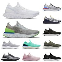 nike epic react flyknit Epic Reage Running Shoes V1 V2 Fly Knit Todos Brancos Cinza Volt para Homens Mulheres Treinadores Tênis Sneakers 36-45