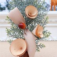 Mini créatif Mini décoration d'arbre de Noël Tabletop Atmosphère Décor de la simulation pour la table à la maison Ornement Natal Navidad cadeau heureux ahe5274