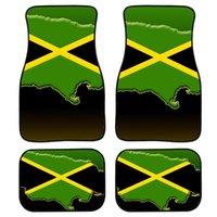 Cushion Decorative Pillow HUGSIDEA Jamaica Flag Print 4Set Pcs Custom Floor Mats For Cars Auto Doormats Drive Car SUV Truck Carpet Rugs