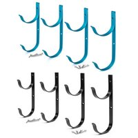 Pool & Accessories E56D 4 Pcs Po-le Hangers Heavy Duty Aluminium Holder With Screws Perfect Hook