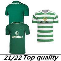 2021 2022 سلتيك لكرة القدم الفانيلة Home Green # 22 Edouard 21/22 بعيدا # 19 Johnston # 9 Griffiths ثالث