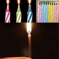 10 Adet / takım Sihirli Relating Mumlar Komik Zor Oyuncak Doğum Günü Ebedi Üfleme Mumlar Parti Joke Doğum Günü Pastası Dekorları 173 V2
