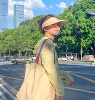Chapeaux de soleil d'été femmes luxe bleu noir bleu vert bouchonne bleu Corée du Sud cyclisme en plein air UV chapeau de soleil anti-ultraviolet