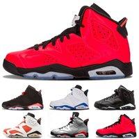 2021 hombres infrarrojos 6 6s zapatos de baloncesto para hombre CNY Carmine Gatorade Green Tinker UNC Black Cat Designer Trainers Sneakers US 7-13