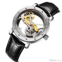 Klassische militärische Hohlzifferblattuhr Luxus Schweizer Männer Automatische mechanische tourbillon transparente Untertaucher Edelstahl Marken Uhren
