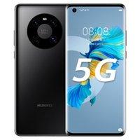"Original Huawei Mate 40e 5G Mobiltelefon 8 GB RAM 128GB 256GB ROM KIRIN 990E 64.0mp AI AR NFC OTG 4200mAh Android 6.5 ""Gekrümmter Vollbild-Fingerabdruck-ID Gesicht Smart-Handy"