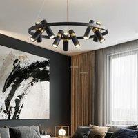 Chandeliers American Vintage Restaurant Nordic Rotatable Ceiling Chandelier Indoor Decor Lighting Hanglamp Fixtures