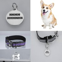 Dog Tag,ID Card Personalized Stainless Steel Pet ID Tag For Cat Keychain Engraved Name Puppy Collar Pendant Keyring