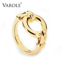 VAROLE HOLLOW CORM Rings Для Женщин Золотой Цвет Геометрические Кольца Мода Ювелирные Изделия Партия Анильос Леди подарки Brincos
