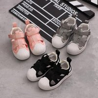 Sneakers Summer Childrens Fashion Casual Shoes With Loop Fasteners Girls Air Mesh Hollow Out Round Toe Soft Sole For Boys