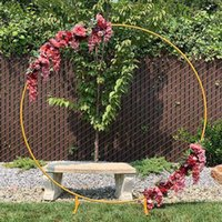 Party Decoration 7.9Ft Circle Wedding Arch Mariage Round Backdrop Background Decorative Props DIY Shelf Flower