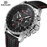 Megir orologi da uomo al quarzo da uomo in quarzo Top Brand Luxury Moda Maschio Casual Casual Luminoso Orologio da cuoio dell'orologio impermeabile 1010 210728