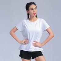 2019 Sport Shirt Women Quick Dry Short Sleeve Gym Fitness Yoga Tops Shirt Loose Breathable Workout Jogging Running Female Shirts
