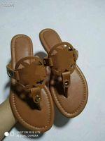 Torrey burch slippers oufles Double Sandales de Prestige Pantoufles à semelles à plats Familles Plage Chaussures de plage en plein air Fashion Tori Chaussons Tori Face