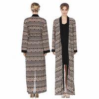 Musulman Abaya Femmes Vêtements Islamic Vêtements Front Open National Cardigan National Cardigan Patchwork Maxi Longue Robe Été Kaftans F3000411 N6SS #