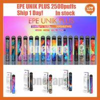 Аутентичные EPE UNIK PLUS DAPE E CIGARETTES POD 1600MAH аккумулятор 2500Установок 10 цветов предварительно заполненные наполненные 9,5 мл стручков испарений