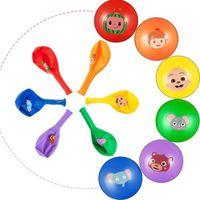 Cocomelon Ji Melon Tema Decorazioni Tema Balloon Cartoon Family Famiglia per bambini Latex Balloon 100pcs / Pack Accessori per feste di compleanno G31803