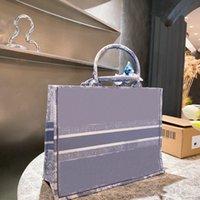 Oversize Tote Bag da ricamo Shopping Bag Book Luxury Book Tote Tiger Embroidery Borsa Borsa da donna Grande Capacità Borsa da donna Borse in tela Canvas 2021