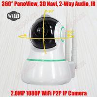 Navi 파노라마 짜임새가없는 2MP 1080P HD 와이파이 베이비 모니터 홈 유니 IP 로봇 카메라 휴대 전화 비디오 감시 2 웨이 오디오 모니터