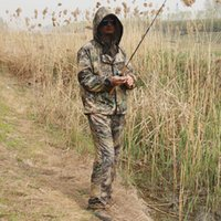 Water Grass Bionic Camouflage Anti-Mosquito Fishing Hunting Clothes Ghillie Suits Men Fishing Suit Camo Jacket Pants Set
