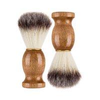 Homens Barbear Barba Barba Badger Cabelo Shave de Madeira Punho Facial Limpeza De Limpeza Pro Salão Ferramenta De Segurança Razão Escovas