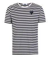 CDG Play Commes Mens Tasarımcısı Ile Kalp Spor Tee Gömlek Des Garcons Yaz Vetements için Beyaz Pablo Şerit
