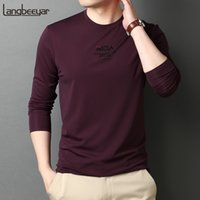 2021 New Designer de primera categoría Marca de moda Slim Fit Cuello redondo Camiseta de manga larga camiseta Hombre Tops Casual Llano Streetwear Hombre Ropa
