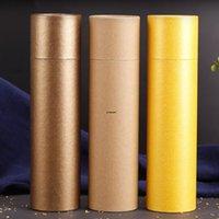 3 colores 250 gramos Tubo de papel de perfume grande Paquete Joss Stick Conveniente Llevar Papel Kraft Tubo de incienso Dar la caja HWD9435
