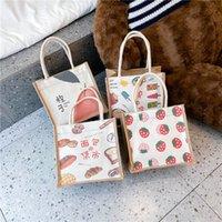 HBP Bento Fashion Personalized Mönster Kanfasväska Kvinnors Väskor Bärbara Bento Väskor Kontor Arbetare Handväska Söt Lunchkasse