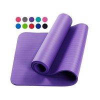 Spor Ekipmanları Fitness Pilates Toptan Özel Baskılı Köpük NBR 10mm Yoga Paspaslar Çevre Dostu