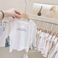 T-shirts Strawberry Xiaobao 2021 Verschleiß Frühling Kinder Unterhose Jungen und Mädchen Solide Farbe Cartoon Korean Langarm T-Shirt