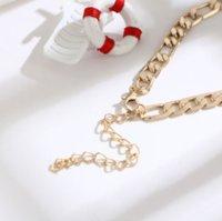 Color Figaro Snake Link Chain Toklet para mujeres Hombres Pulsera de tobillo Accesorios de playa Joyería de pie PS1211