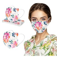 Fashion Floral Face Masks Disposable 3ply Mask For Women Protection Dustproof Filter Masks Fasemask Cosplay Decoration Mascsrill