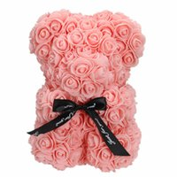 10 inç PE Plastik Yapay Ayı Renkli Köpük Gül Çiçek Teddy Bear Sevgililer Günü Hediyesi Doğum Günü Partisi Bahar Dekorasyon 277 R2