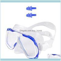 Scuba Water Sports & Outdoorsdiving Snorkeling Diving Mask Snorkel Set Tempered Glass Lenses Adjustable Strap Uv Protection Anti-Fog Waterpr