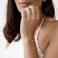 Orecchini Collana Color Gold Color Delicata Semplice moda Classic Design Single Stone Turcheses anello gioielli set